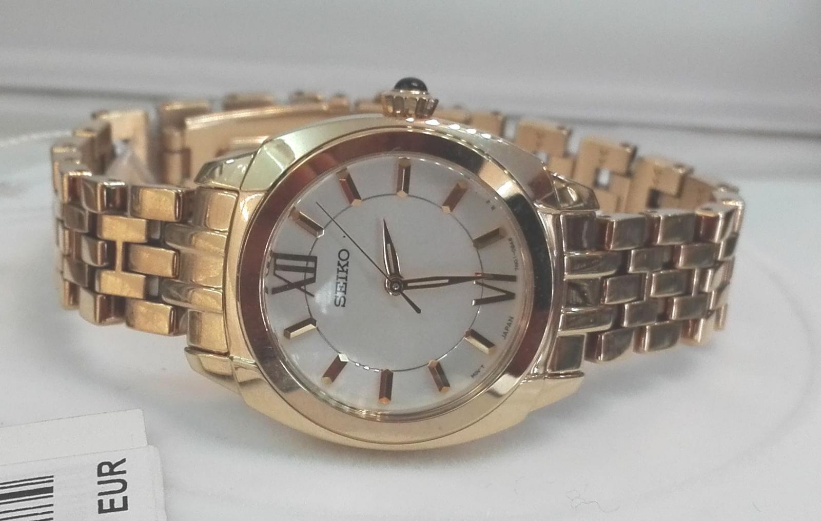 Reloj Seiko Colección Mujer SRZ428P1 Chapado Oro