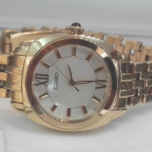 Reloj Seiko Colección Mujer SRZ428P1 Chapado Oro [0]