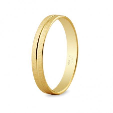 Alianza de diseño original oro de 18K de 3 mm de ancho
