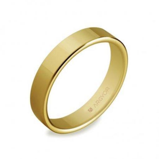Alianza de boda clásica 5140150  plana de oro de 18K ¡Llévatela! [0]