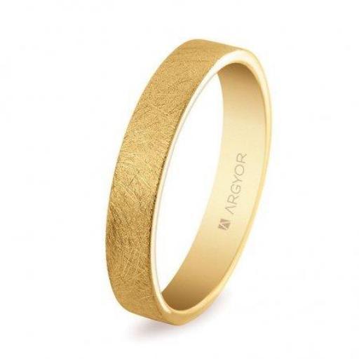 Alianza de boda clásica plana de oro de 18K modelo 5140150H ¡Ven A Por Ella! [0]
