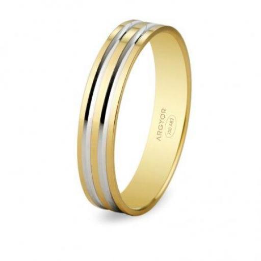 Alianza boda de diseño Argyor bicolor de 18K referencia 5140210R ¡Espectacular Diseño! [0]
