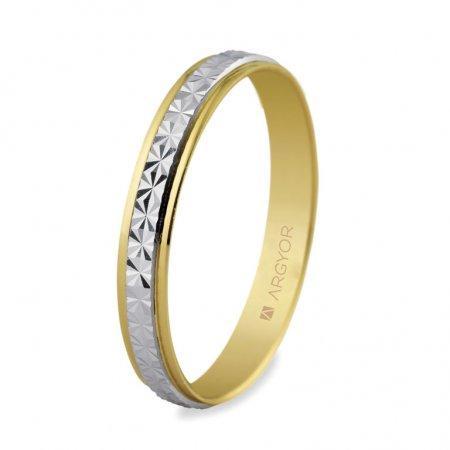 Alianza de boda original Argyor 2 oros de 9K