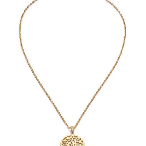 Collar Acero Dorado Arbol De La Vida De Viceroy [1]