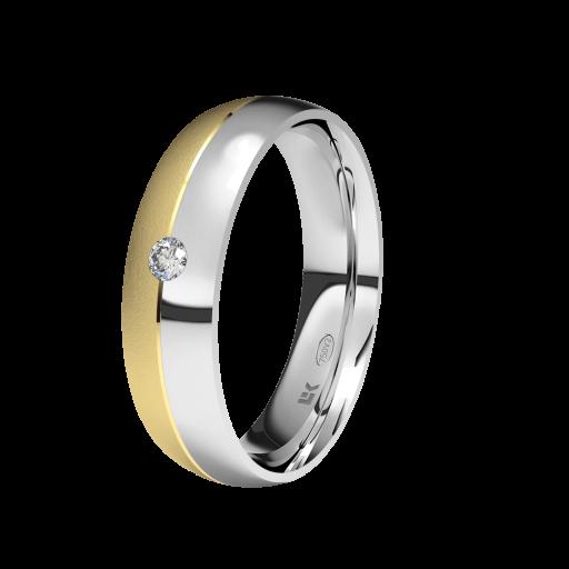 Alianza Oro 18 Quilates Modelo 2 Colores con Brillante Marca LK [0]