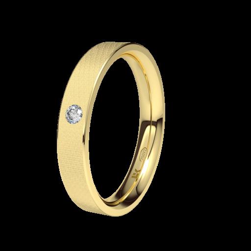 Alianza Para Boda Oro Amarillo y Brillante Modelo Forma D ELEKA