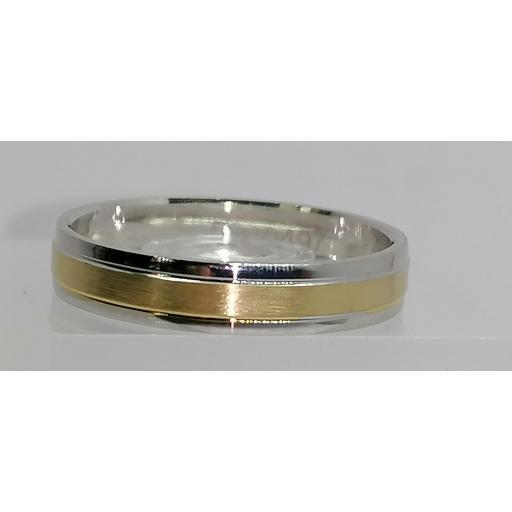 Alianza de boda de diseño original bicolor de 18K modelo 5240497  [0]