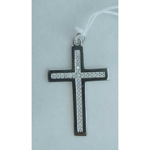 ¡Cómprate Esta Preciosas Cruz De Oro Blanco Con Circonitas! [0]