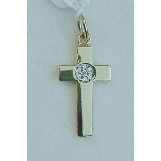 Comprar Cruz De Oro Para Mujer Con Circonitas En El Centro ¡Ideal!