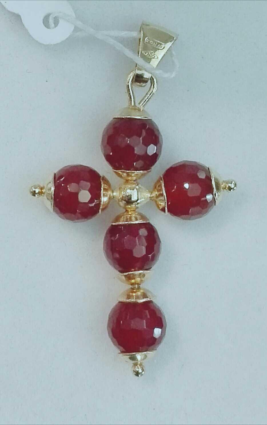 ¡Ideal! Cruz De Oro Para Mujer Con Piedras
