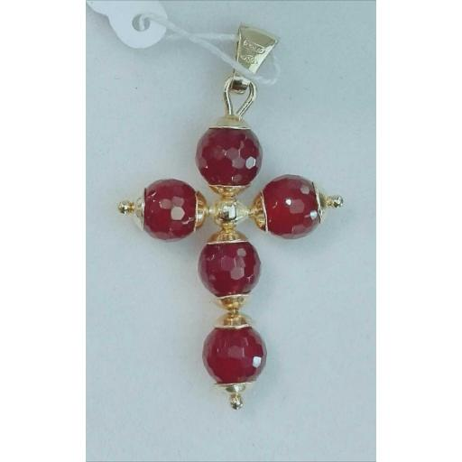 ¡Ideal! Cruz De Oro Para Mujer Con Piedras  [0]