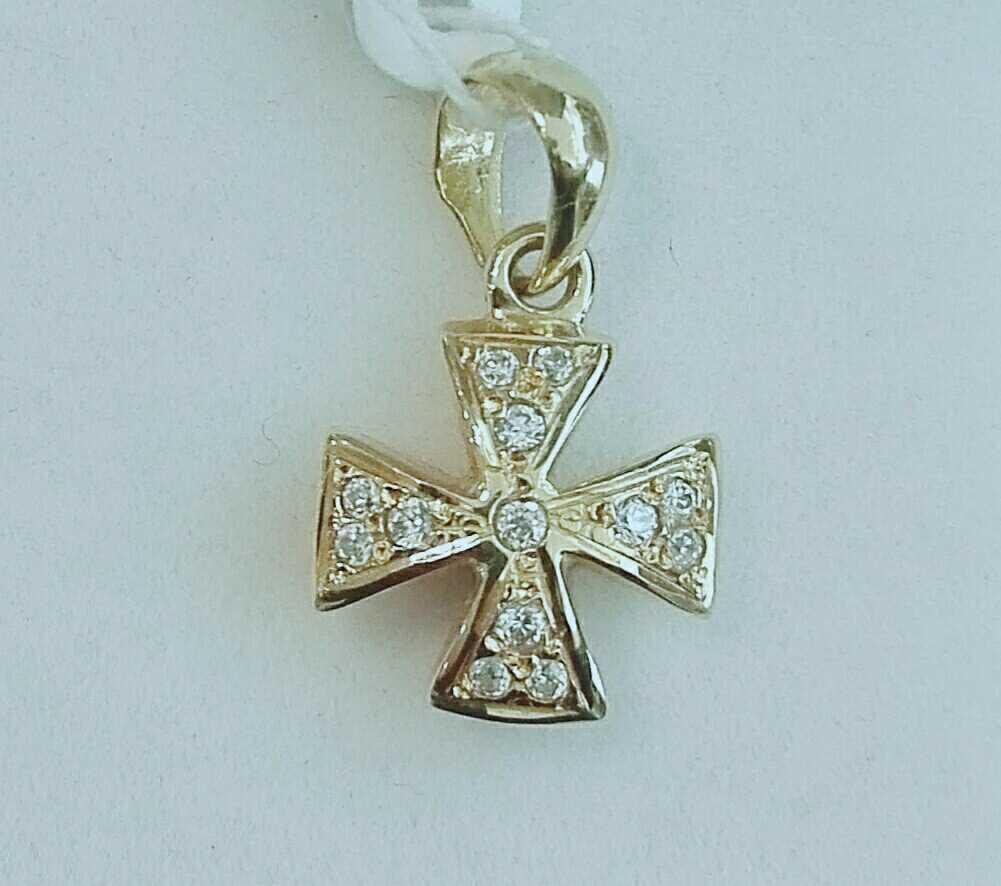 ¡Llévatela! Cruz de Oro Para Mujer Con Circonitas Pequeña
