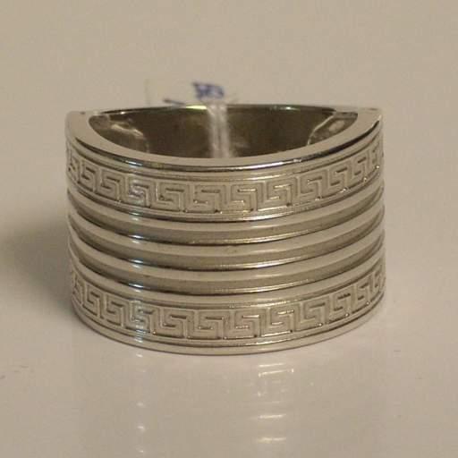 Original Sortija oro blanco 18 quilates (750/000) ,  labrada.