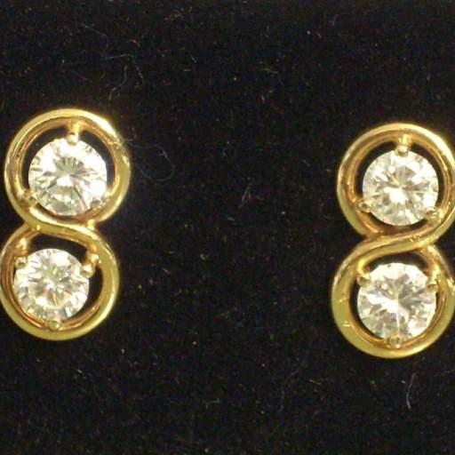 Pendientes oro 18 quilates con brillantes de 2 quilates (0,5 x 4) Calidad VS2 Color H  [0]