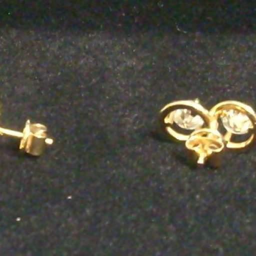 Pendientes oro 18 quilates con brillantes de 2 quilates (0,5 x 4) Calidad VS2 Color H  [1]