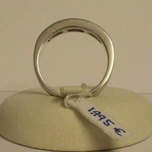 Liquidacion  Sortija de pedida en oro blanco y diamantes talla princesa Máxima calidad [2]