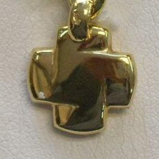 Original Cruz en Oro Amarillo de 18 Kts Terminación Brillo