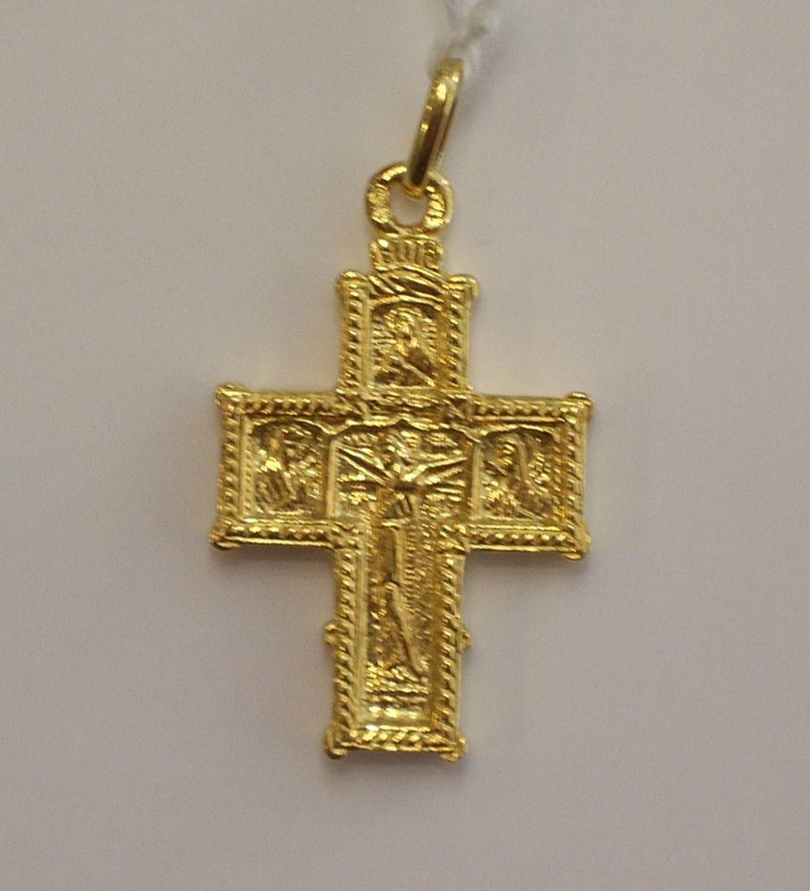 Preciosa Cruz Bizantina Oro de 18 Quilates en Oferta por Liquidación