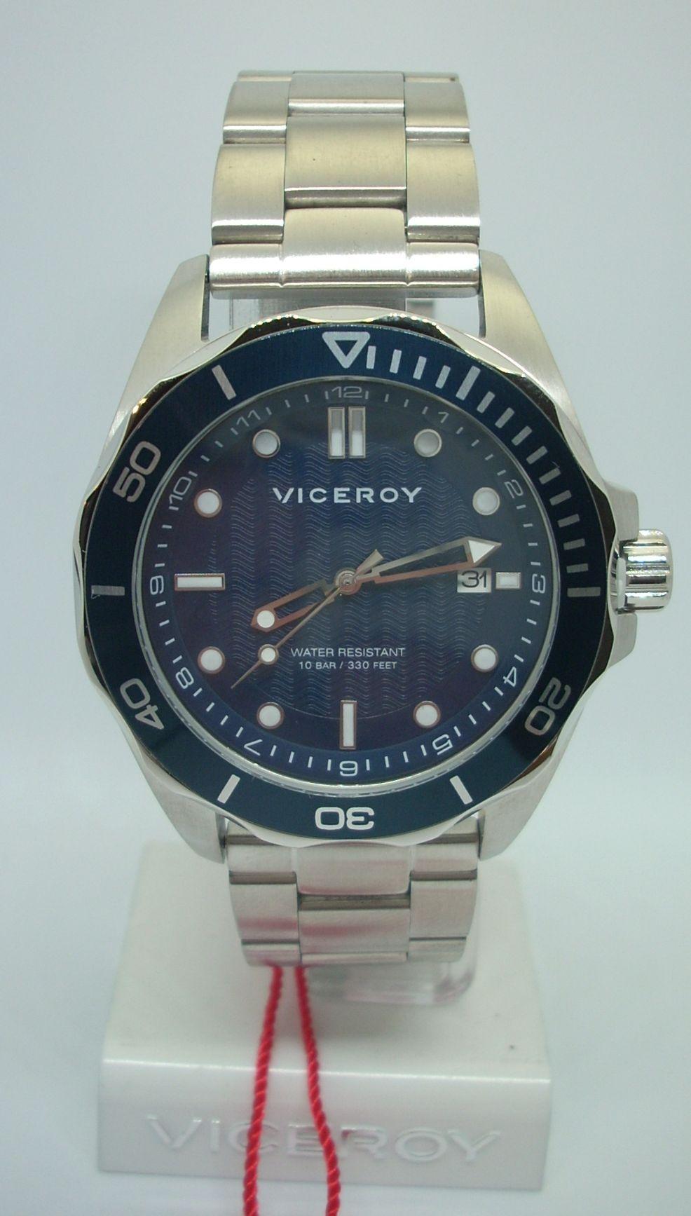 Oferta Reloj Viceroy Para Hombre 471183-37 Acero Wr 10 Bar