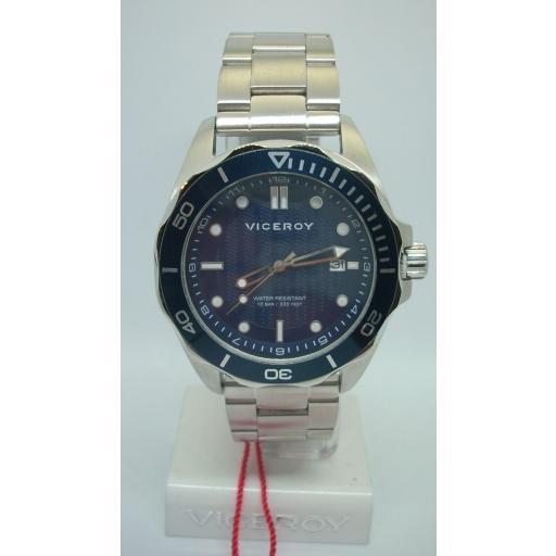 Oferta Reloj Viceroy Para Hombre 471183-37 Acero Wr 10 Bar [0]