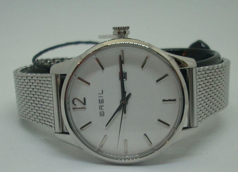 Reloj Mujer Breil Malla Milanesa Esfera Blanca TW1587