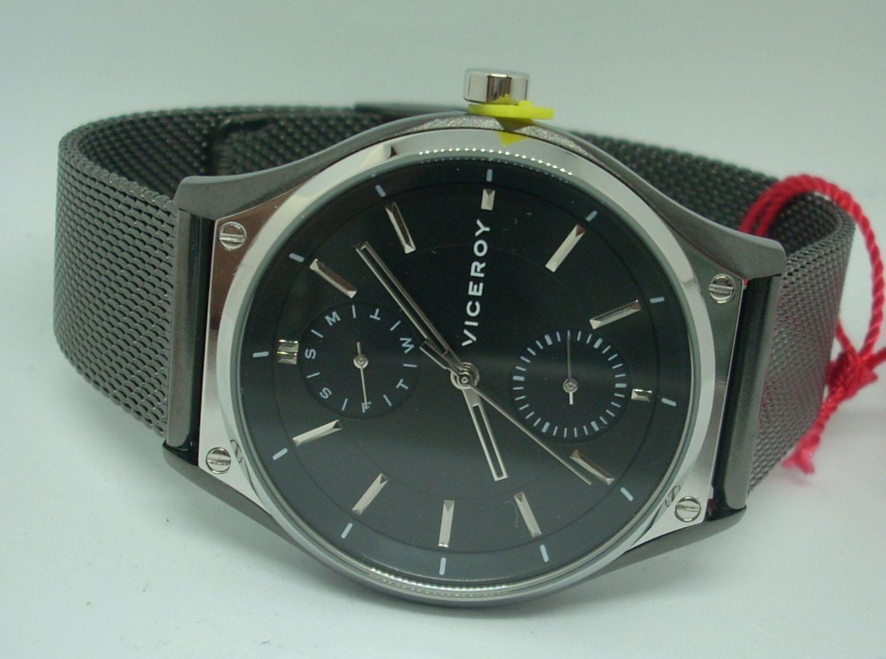 Reloj Viceroy Hombre Malla Milanesa Acero IP Gris 471183-57