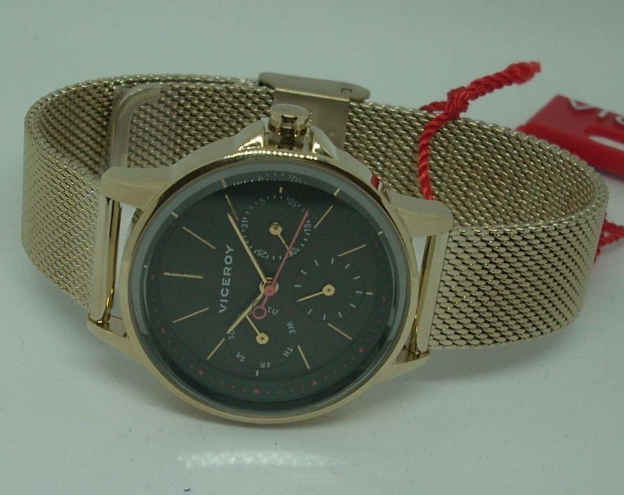 Reloj Viceroy Mujer Dorado Malla Milanesa 461102-97