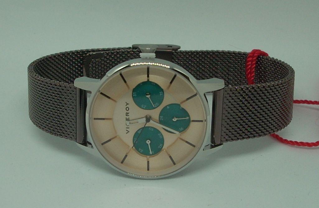 Reloj Viceroy Mujer Correa Malla Milanesa Multifuncion 471200-97