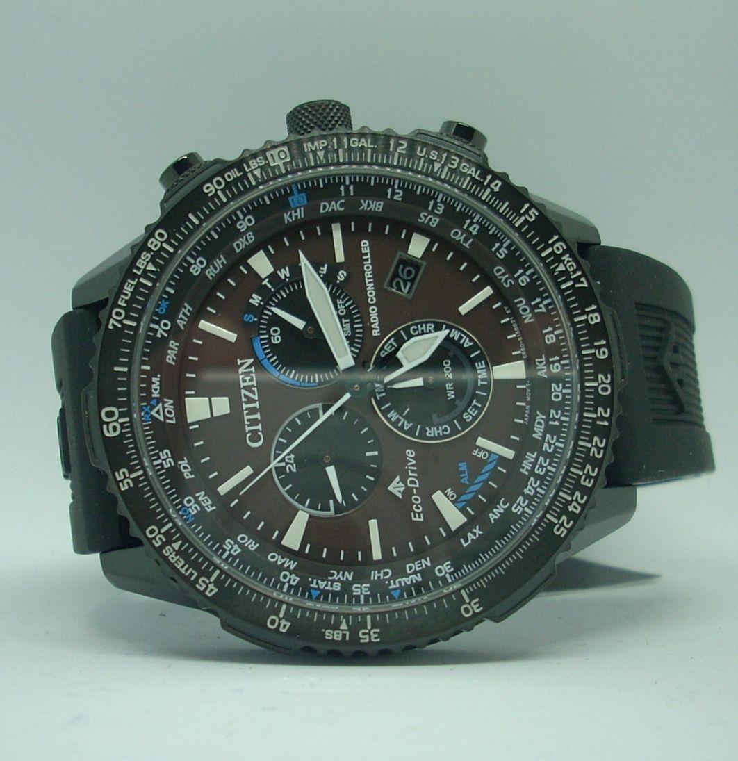 Reloj Citizen Radiocontrolado CB5005-13X Crono Pilot Acero Black