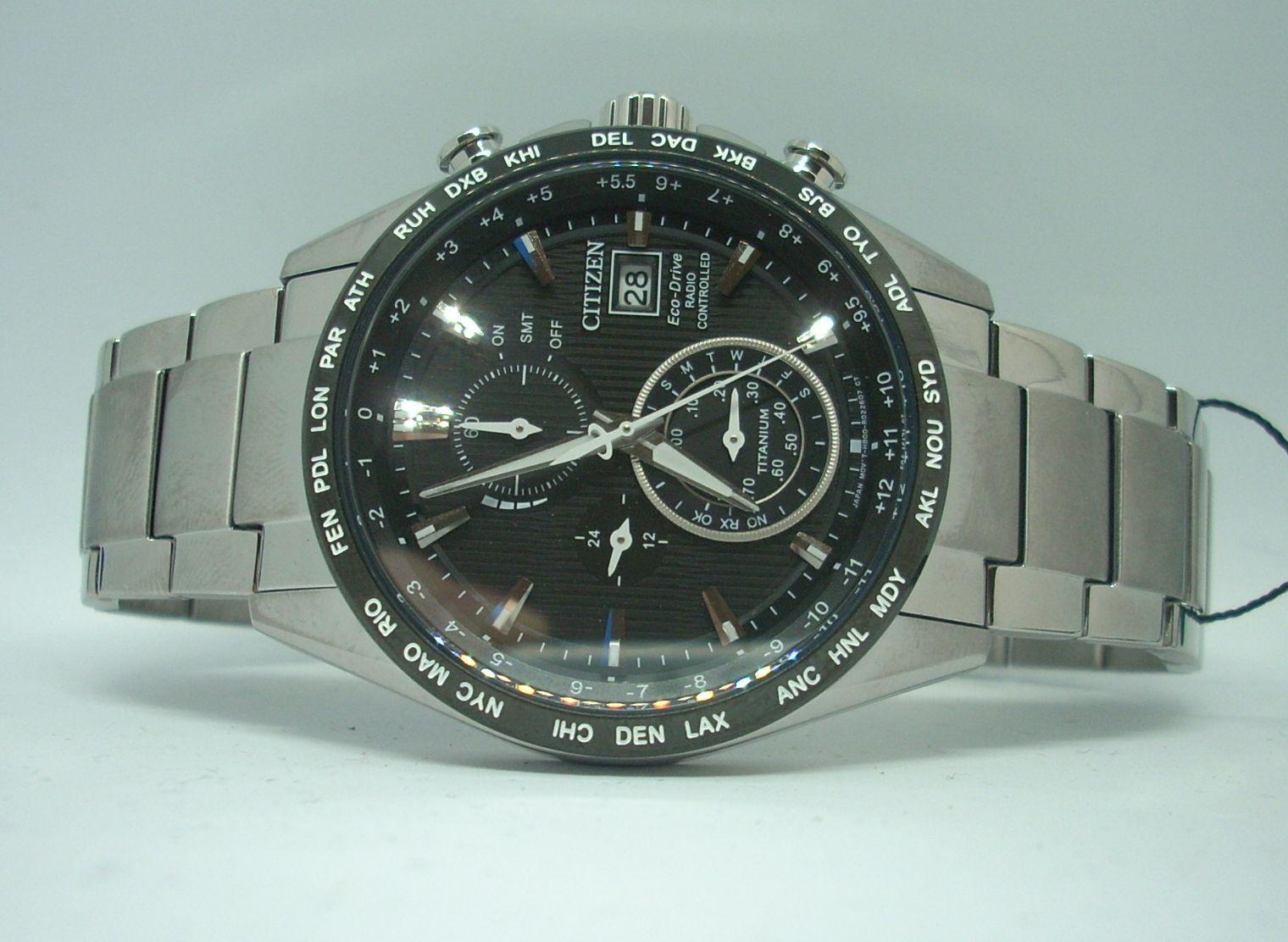 Reloj Citizen Eco Drive Radiocontrolado Titanio De Hombre AT8154-82E
