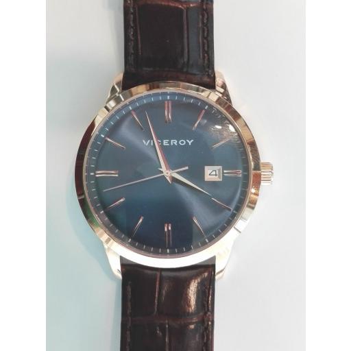 ¡Oferta En Relojes Para Hombre Viceroy! Reloj Oro Rosa Correa Piel [0]