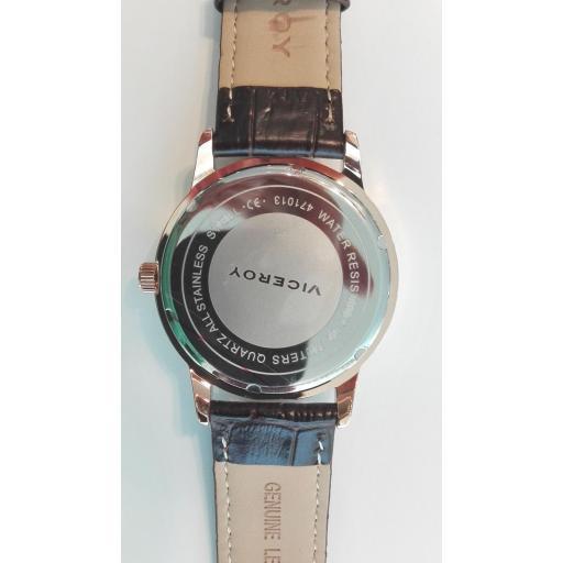 ¡Oferta En Relojes Para Hombre Viceroy! Reloj Oro Rosa Correa Piel [1]