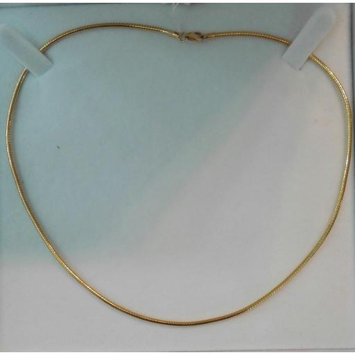 Precioso Collar Oro 18k Rígido y Pegado Al Cuello Para Mujer ¡¡¡Llévatelo!!!