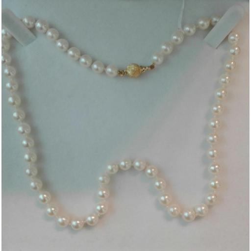 Bonito Collar Perlas Cultivadas Con Cierre De Oro 18 Quilates ¡Ideal Para Tí!