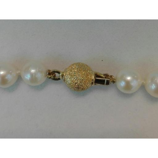 Bonito Collar Perlas Cultivadas Con Cierre De Oro 18 Quilates ¡Ideal Para Tí! [1]