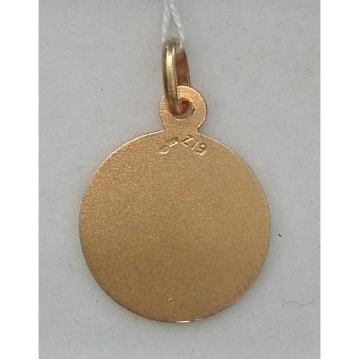 Medalla Oro Virgen Del Carmen Sin Filo 18 Quilates [1]