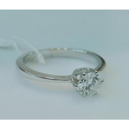 Anillo Diamantes Oro Blanco 18 Quilates [1]