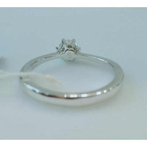 Anillo Diamantes Oro Blanco 18 Quilates [2]