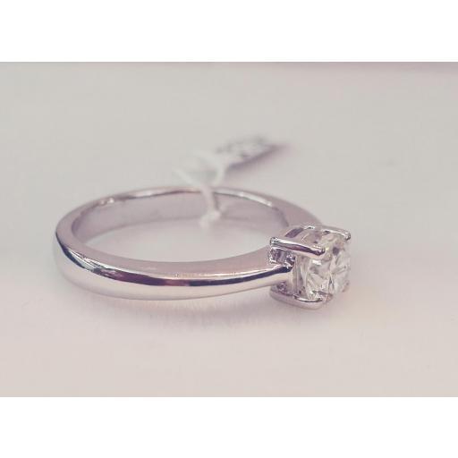 Anillo De Diamantes Oro Blanco Ideal Compromiso [2]