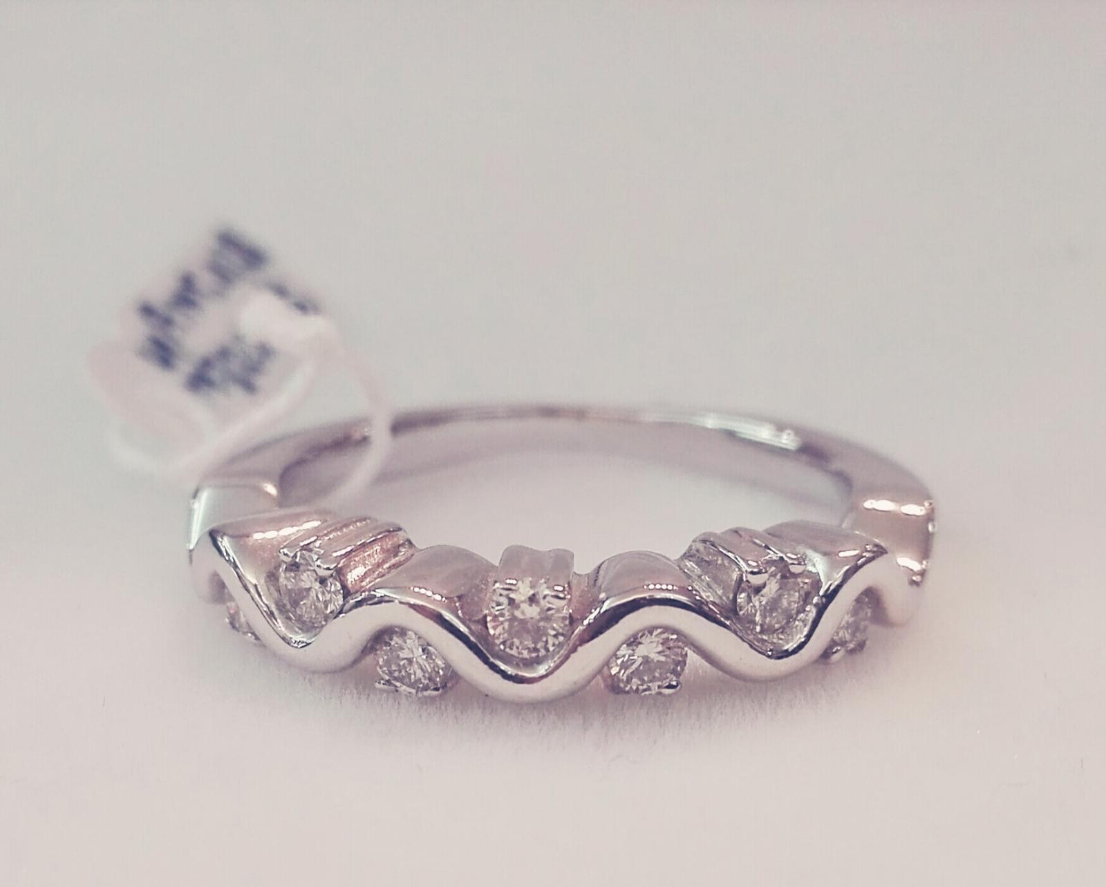 Oferta Anillo 7 Diamantes Oro Blanco Ideal Compromiso