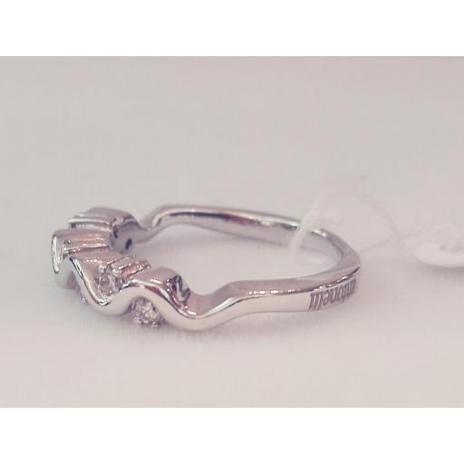 Oferta Anillo 7 Diamantes Oro Blanco Ideal Compromiso [1]