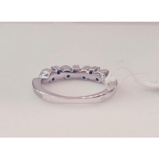 Oferta Anillo 7 Diamantes Oro Blanco Ideal Compromiso [2]