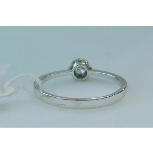 Anillo Diamantes Mujer Solitario Con Garras Oro Blanco 18 Quilates [2]