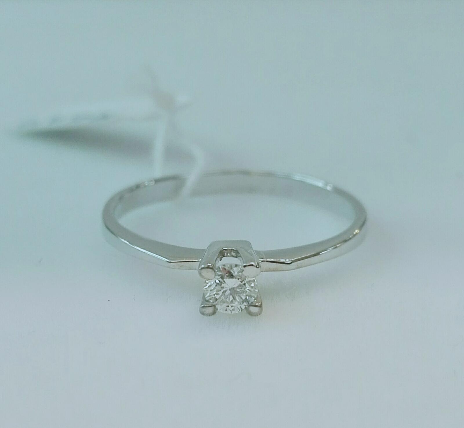 Anillo Diamantes Tipo Solitario Talla Brillante Ideal PedidaPrecio Barato Oro Blanco