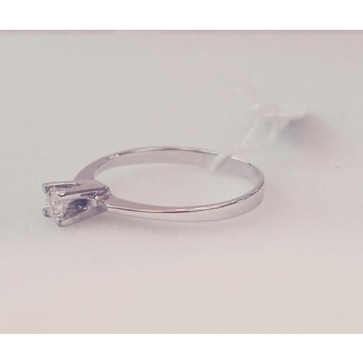 Anillo Diamantes Tipo Solitario Talla Brillante Ideal PedidaPrecio Barato Oro Blanco [1]