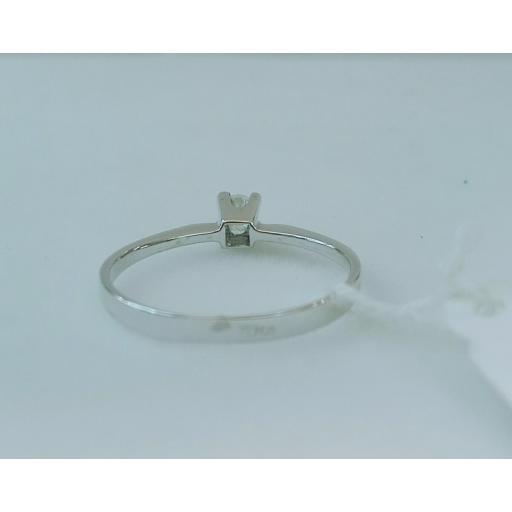 Anillo Diamantes Tipo Solitario Talla Brillante Ideal PedidaPrecio Barato Oro Blanco [3]