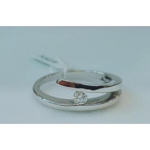 Anillo Diamantes	Modelo Solitario Ideal Para Boda En Oferta