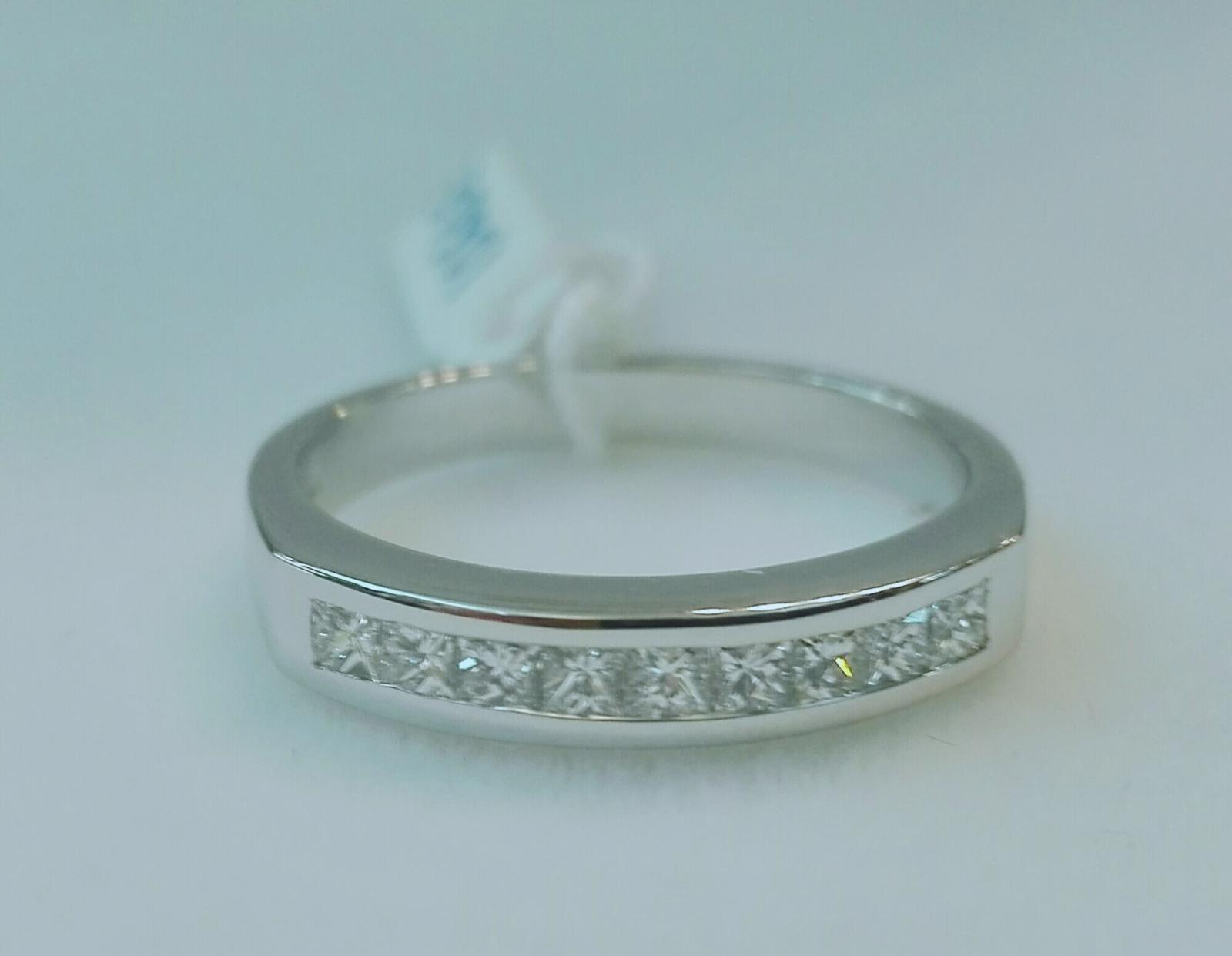 Anillo Diamantes En Oferta Talla Princesa Oro Blanco