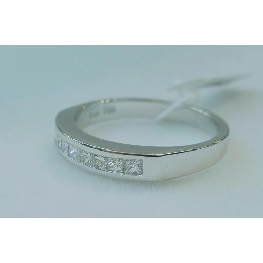 Anillo Diamantes En Oferta Talla Princesa Oro Blanco [1]