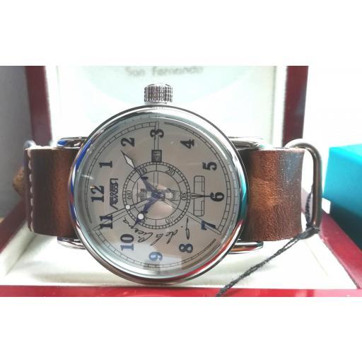 Reloj Aviador Juan De La Cierva AV-1067-NPM